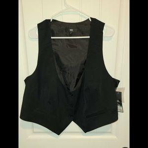 Mossimo crop vest 22w womens black